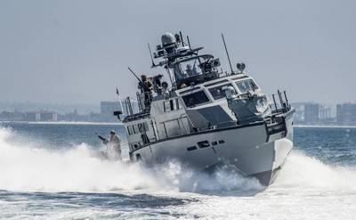 The U.S. Navy's Mark VI class patrol boat is designed to patrol riverine and littoral waters around the globe. (Photo: Nelson Doromal Jr / U.S. Navy)