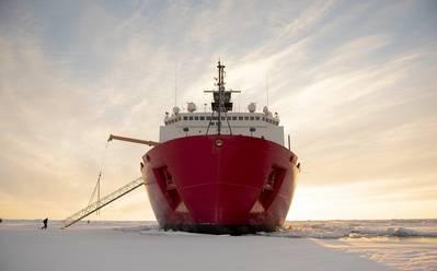The USCG Icebreaker Healy  (CREDIT NyxoLyno Cangemi USCG)