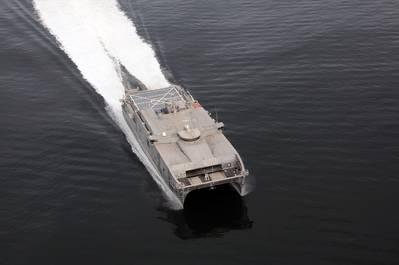 The USNS Trenton in action (photo courtesy of Austal)