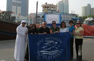 The volunteers from left to right Wajd Ghanem (Customer Relations Executive - Dubai Chamber), Eman Al Mandani (CSR Executive – Dubai Chamber), Rami Halawani (Director of Marketing – Dubai Chamber), Alexi Trenouth (Events and CSR Manager – Angel Appeal), Lama Nasser (Executive Secretary of Director General – Dubai Chamber), Annelies Hodge (CSR Manager – Dubai Chamber), Karen Malia (Volunteer Coordinator & CSR Manager – Angel Appeal). Photo courtesy Shamal Marketing Communications