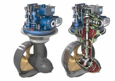 The  Wärtsilä WST-14 thruster.