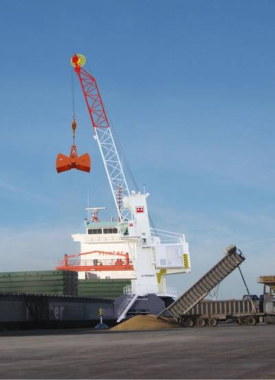 TPS will deliver the first two Terex QuaymateTM M50 mobile harbour cranes for Asia this summer. Photo Terex