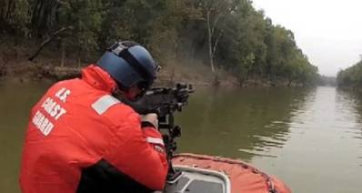 Training on Fort Knox firing range: Photo credit USCG