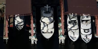 Trinity Yachts, 2012 Launch Line Up, Gulfport, Mississippi Shipyard (photo: courtesy Trinity Yachts)