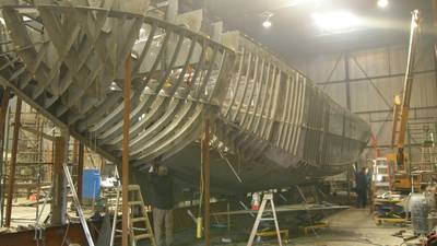 Tug Iron Guppy – a new Robert Allan Ltd. ice-breaking tug taking shape for Ports Toronto