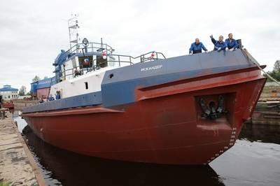 Tugboat 'Iskander'. Photo credit Laysky Shipyard