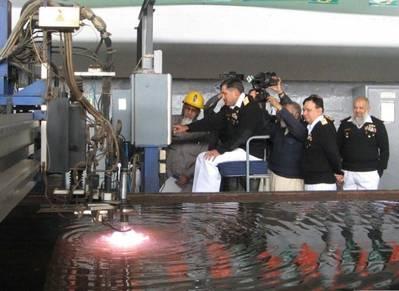 Tugboat keel ceremony: Photo credit KS&EW