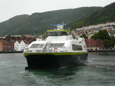 Tyrving is one of the 26 HSC passenger catamarans to be upgraded. Photo Adveto