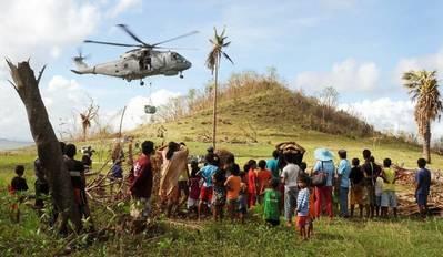 UK relief logistics flight: Photo courtesy of MOD