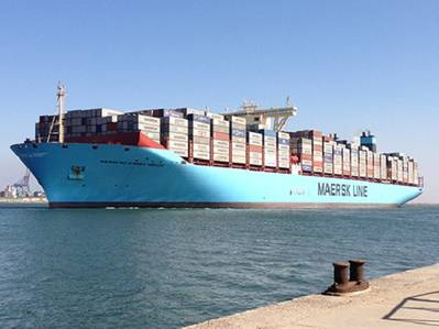 Ultra-large Container Ship: Image courtesy of Maersk