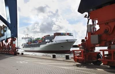Unifeeder vessel Vera Rambow in Rotterdam. Photo: Unifeeder