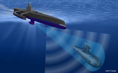 Unmanned Sub Hunter: Image credit DARPA
