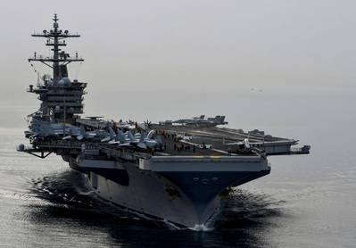 U.S. Navy aircraft carrier USS Theodore Roosevelt (U.S. Navy photo by Anna Van Nuys)