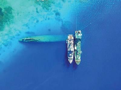 U.S. NAVY PHOTO BY LEIGHAHN FERRARI, CHIEF MATE, U.S. NAVAL SHIP SALVOR