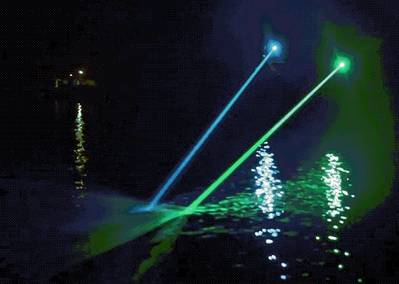 Using a blue-green laser, LADAR penetrates the ocean water mass enabling detection of submerged objects and debris, like containers, fishing nets, small barges, humans, ice floes, oil spills in the water column, plastic and much more (Photo: LADAR Ltd)