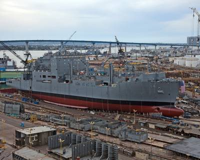 USNS Cear Chavez Prior to Launch: Photo credit NASSCO