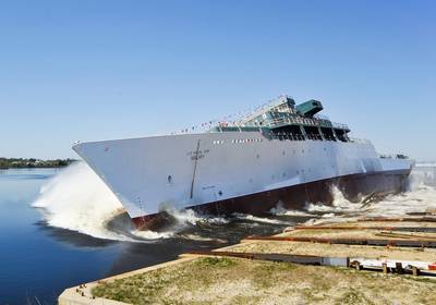 USNS Maury Launch. CREDIT: VT Halter Marine