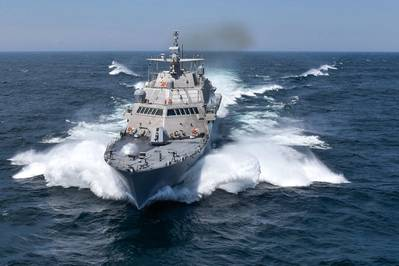 USS Detroit (LCS 7) (U.S. Navy Photo courtesy of Lockheed Martin-Michael Rote)