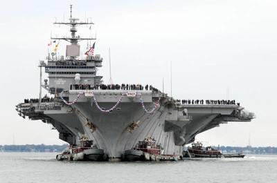USS Enterprise Arrives Norfolk Navy Base: Photo credit USN