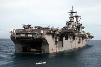 'USS Essex': Photo credit Dept of Defense