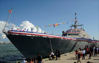 'USS Fort Worth Commissioning: Photo credit Lockheed Martin