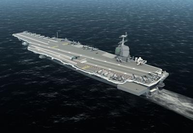USS Gerald Ford: Image credit NNS