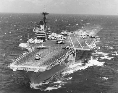USS Independence (CV-62). Official U.S. Navy Photograph, from the collections of the Naval Historical Center.