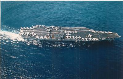 USS John F. Kennedy (CV-67). (USN Photo DN-ST-89-01287 by Photographer's Mate 2d Class William Lipski)