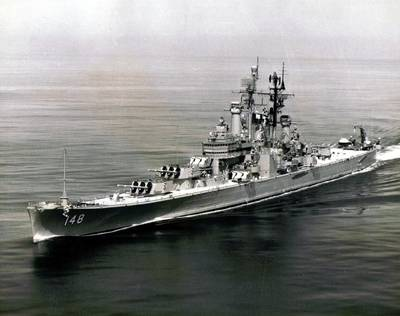 USS Newport News (CA-148). (U.S. Navy photo)