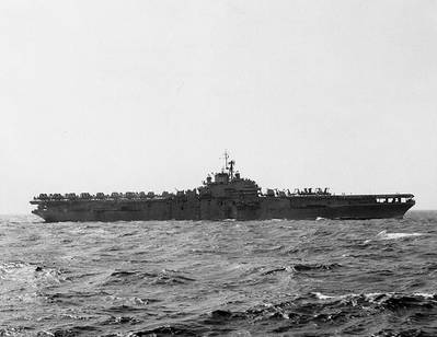 USS Princeton (CVS-7). Official U.S. Navy Photograph, from the collections of the Naval Historical Center.