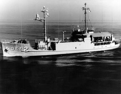 USS Pueblo (U.S. Navy photo)