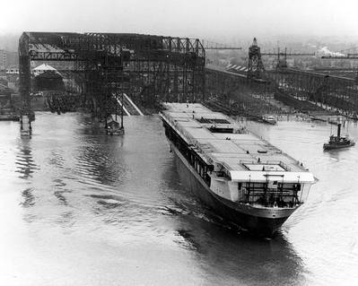 USS Ranger (CV-4) launched at Newport News (Official U.S. Navy Photograph, now in the collections of the National Archives.)