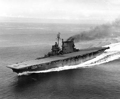 USS Saratoga (CV-3). Photograph from the Bureau of Ships Collection in the U.S. National Archives.