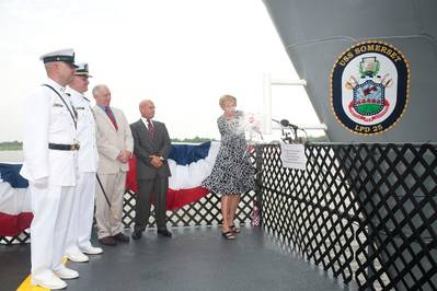 'USS Somerset' Christening: Photo credit Ingalls Shipbuilding