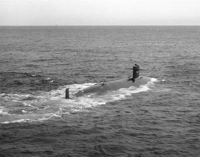 USS Thresher (Naval Historical Center photo)