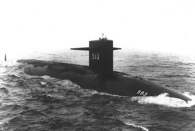 USS Thresher: Photo credit USN