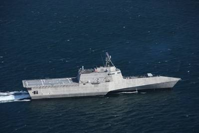 USS Tulsa (LCS 16) during acceptance trials in the Gulf of Mexico (Photo: Austal USA)