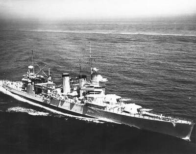 USS Tuscaloosa (CA-37) Official U.S. Navy Photograph, now in the collections of the National Archives.