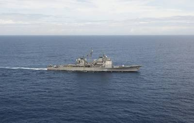 USS Vella Gulf (U.S. Navy photo by Lacordrick Wilson)