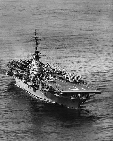 USS Wasp (Official U.S. Navy Photograph from the collections of the Naval Historical Center)