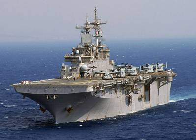 USS Wasp: Photo credit USN