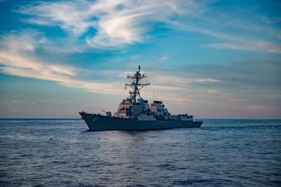 USS Winston S. Churchill (DDG 81) (U.S. Navy video by Louis Thompson Staats IV)