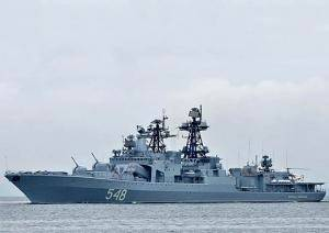 Russian Destroyer 'Admiral Panteleyev': Photo credit Russian Navy