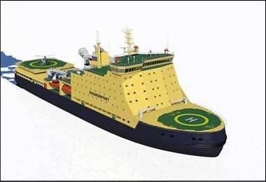 Russian Icebreaker: Image credit Petrobalt