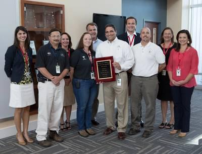 Austal/AEU safety award presentation: Photo credit Austal USA