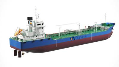 V-Bunkers placed an order to build two electric-hybrid bunker tankers. Photo courtesy Vitol.