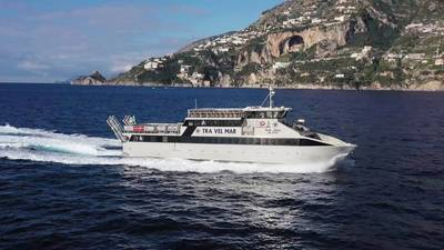 Vega is currently out of the water, but it will be ready to welcome and ferry holidaymakers from Easter next year onward. (Photo: Volvo Penta)