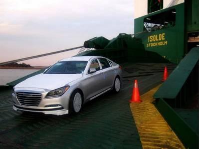 Vehicle #5,000,000 (Photo courtesy of Georgia Ports Authority)