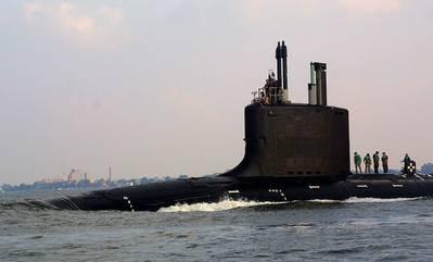 Virginia-class submarine: Photo credit USN