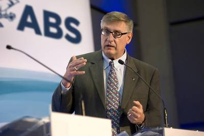 """""""We can all understand the potential of alternate fuels in shipping's push to achieve a sustainable footing ... however we see the potential of MPS, sitting as it does at the intersection of data, digital and decarbonization, as another, less heralded, advance with the potential to make a significant contribution."""" Chris Wiernicki, CEO, ABS. Photo courtesy ABS"""